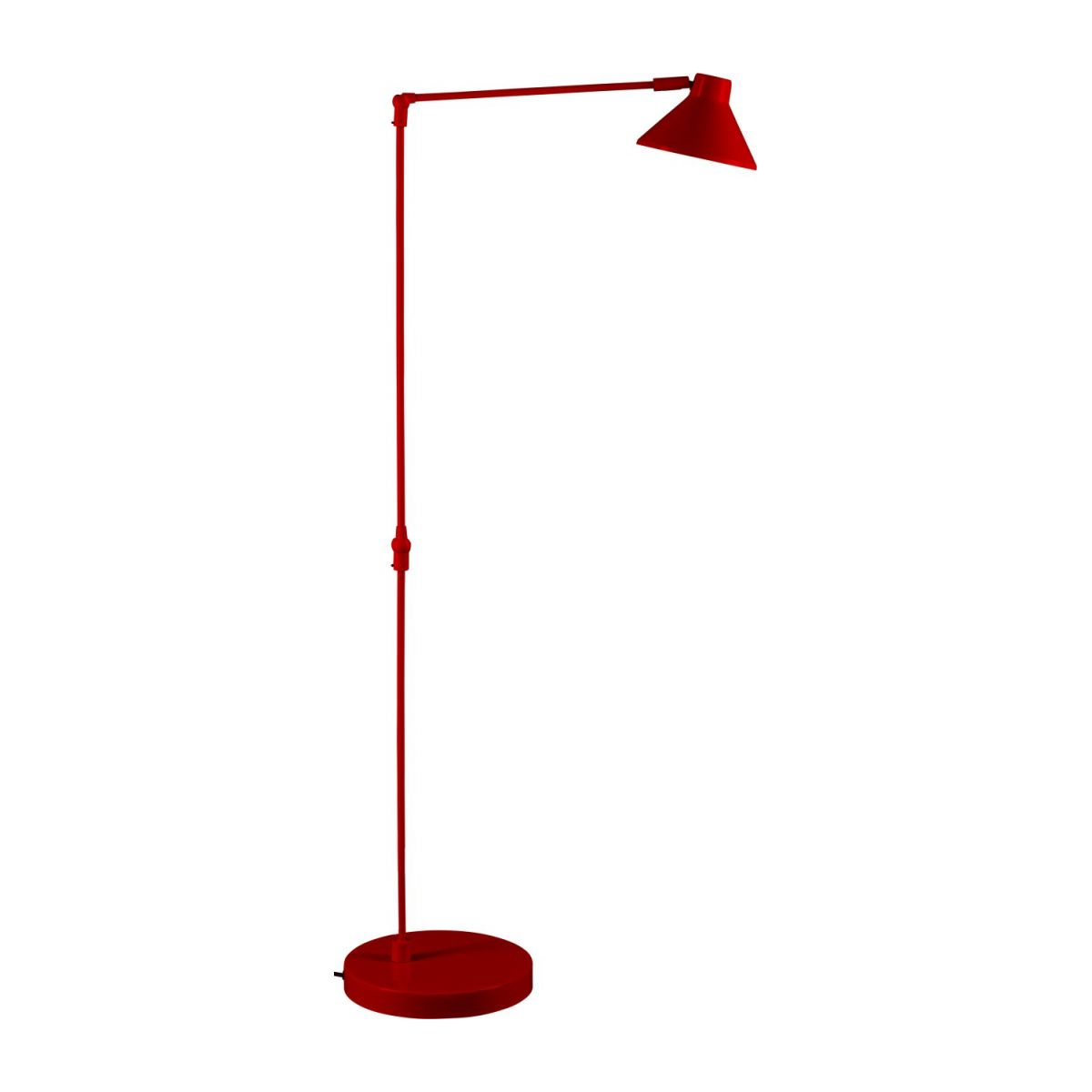 Steel floor lamp, red n°2