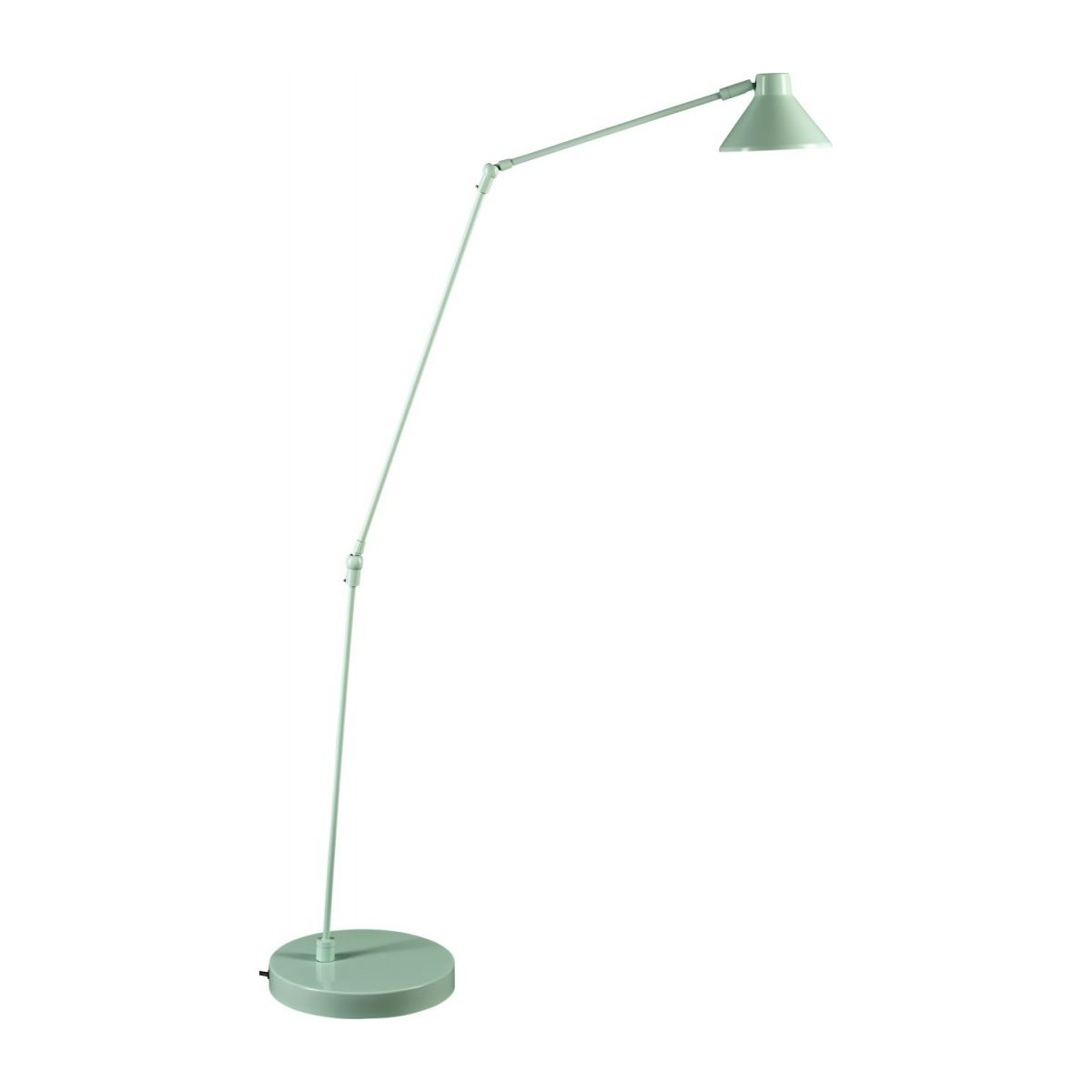 Steel floor lamp, pastel blue n°2