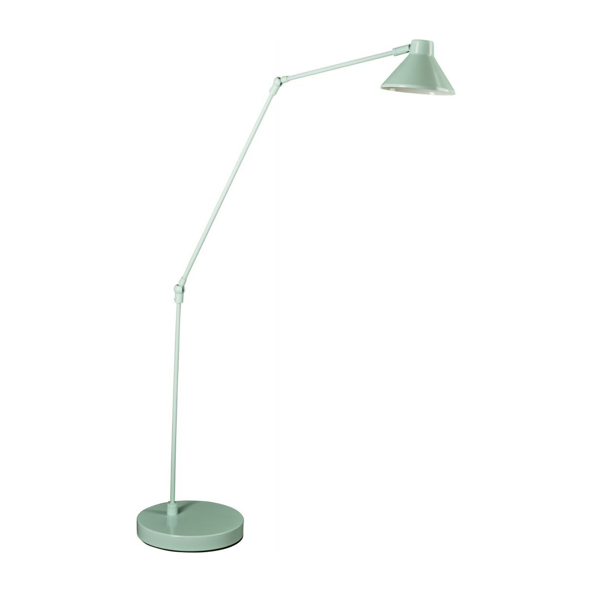 Steel floor lamp, pastel blue n°1