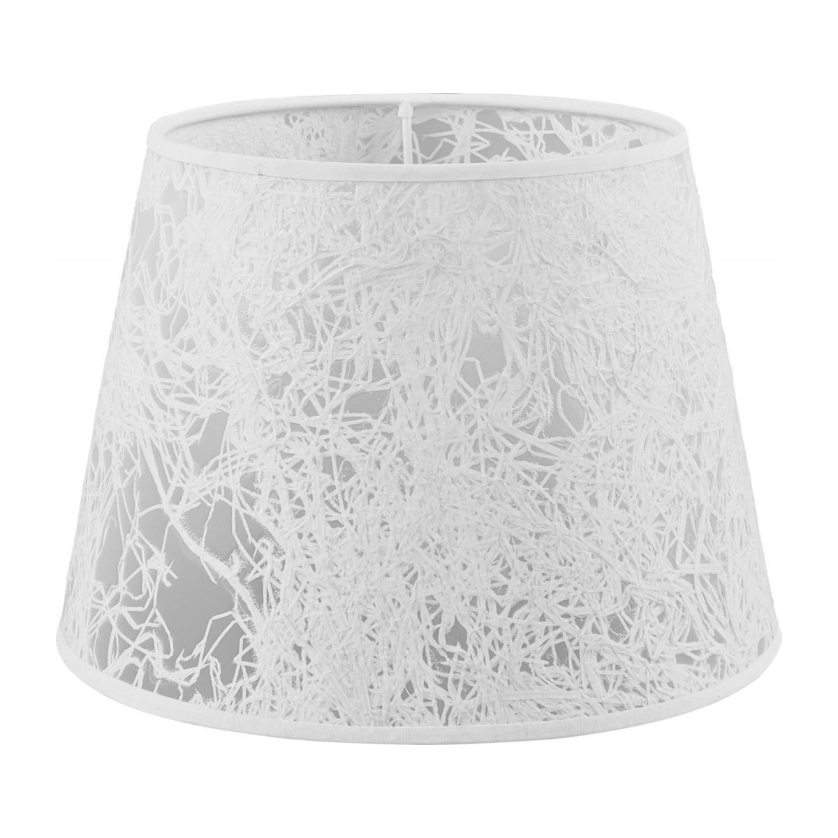 Lampshade in paper and PVC, white n°1