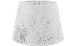 Lampshade in paper and PVC, white