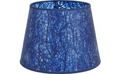 Lampshade in paper and PVC, blue