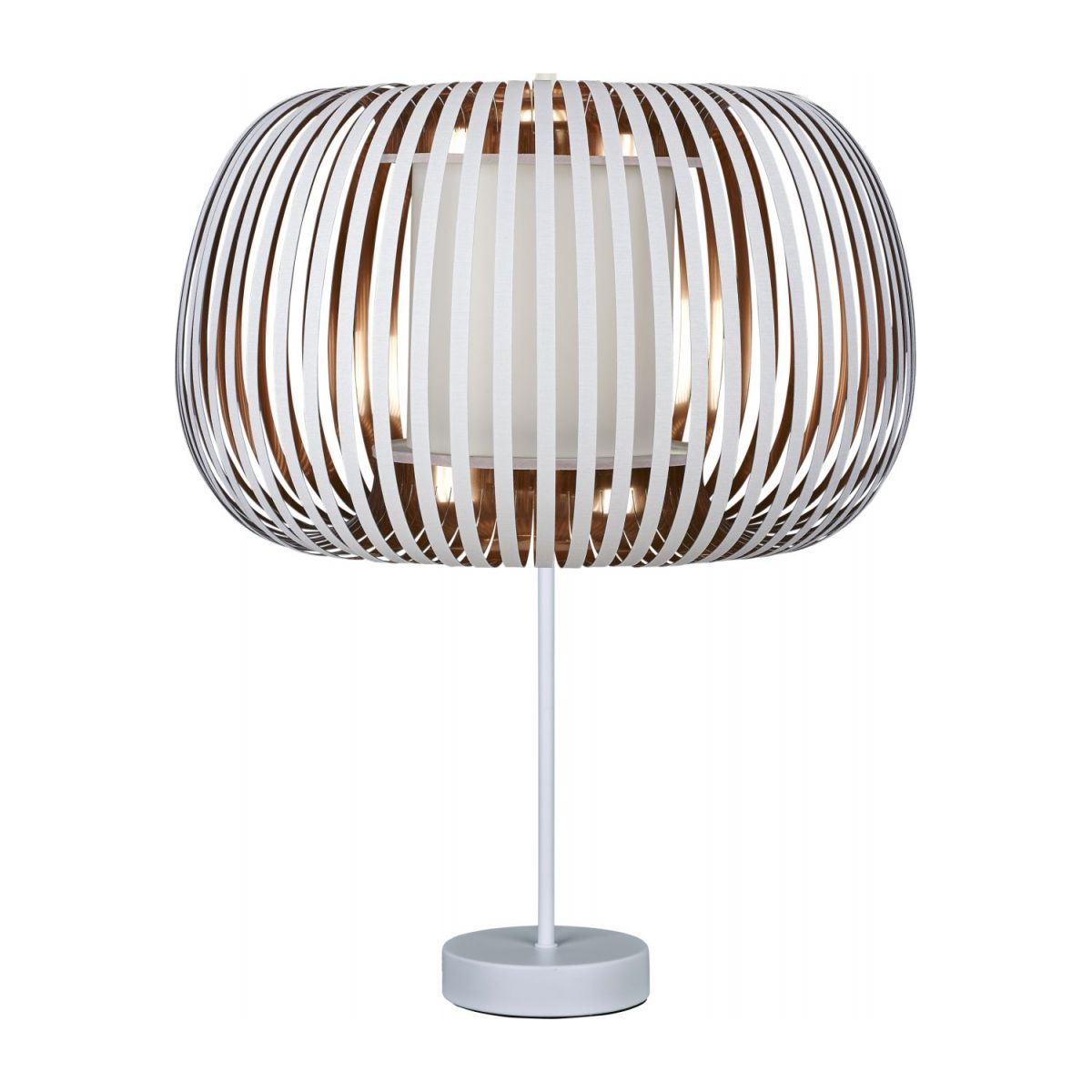 Ceiling lamp in PVC, white and copper n°3