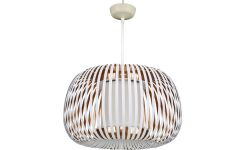 Ceiling lamp in PVC, white and copper