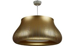 Ceiling lamp in PVC, golden