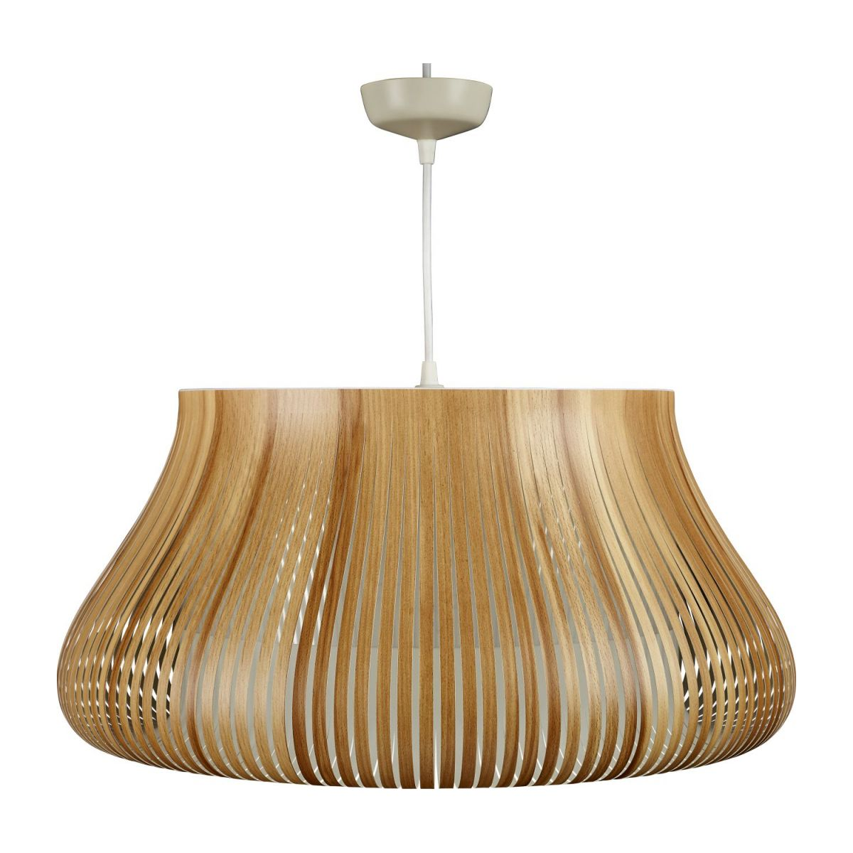 Ceiling lamp in PVC, natural wood n°3