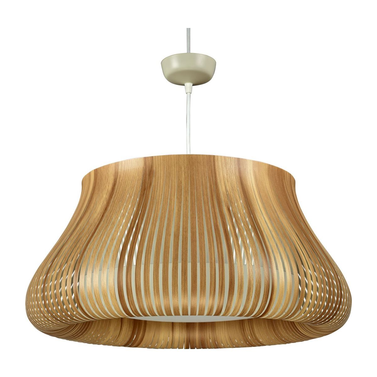 Ceiling lamp in PVC, natural wood n°1