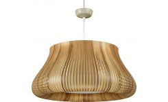 Ceiling lamp in PVC, natural wood