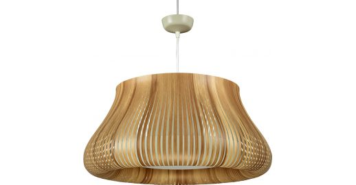 Ilios Ceiling Lamp In Pvc Natural Wood Habitat