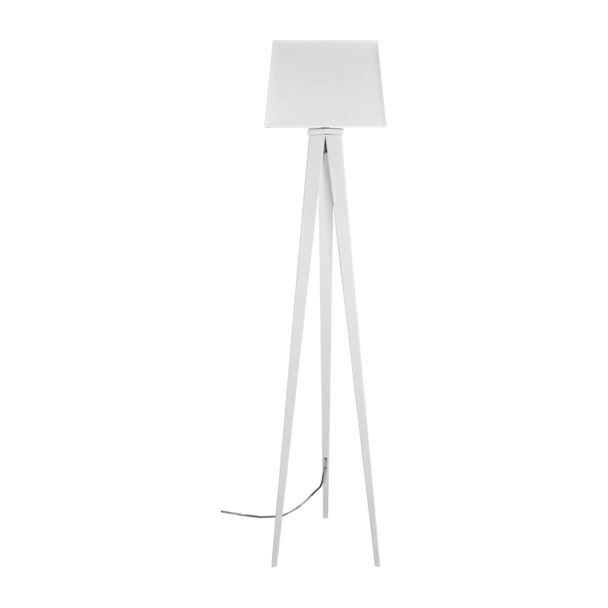 Floor lamp base made of metal, white n°3