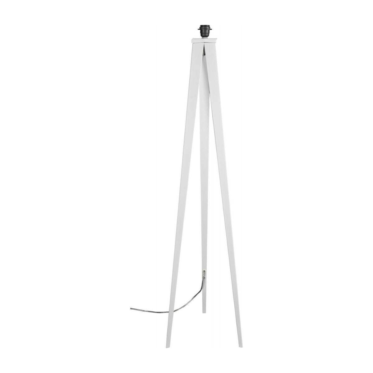 Floor lamp base made of metal, white n°1