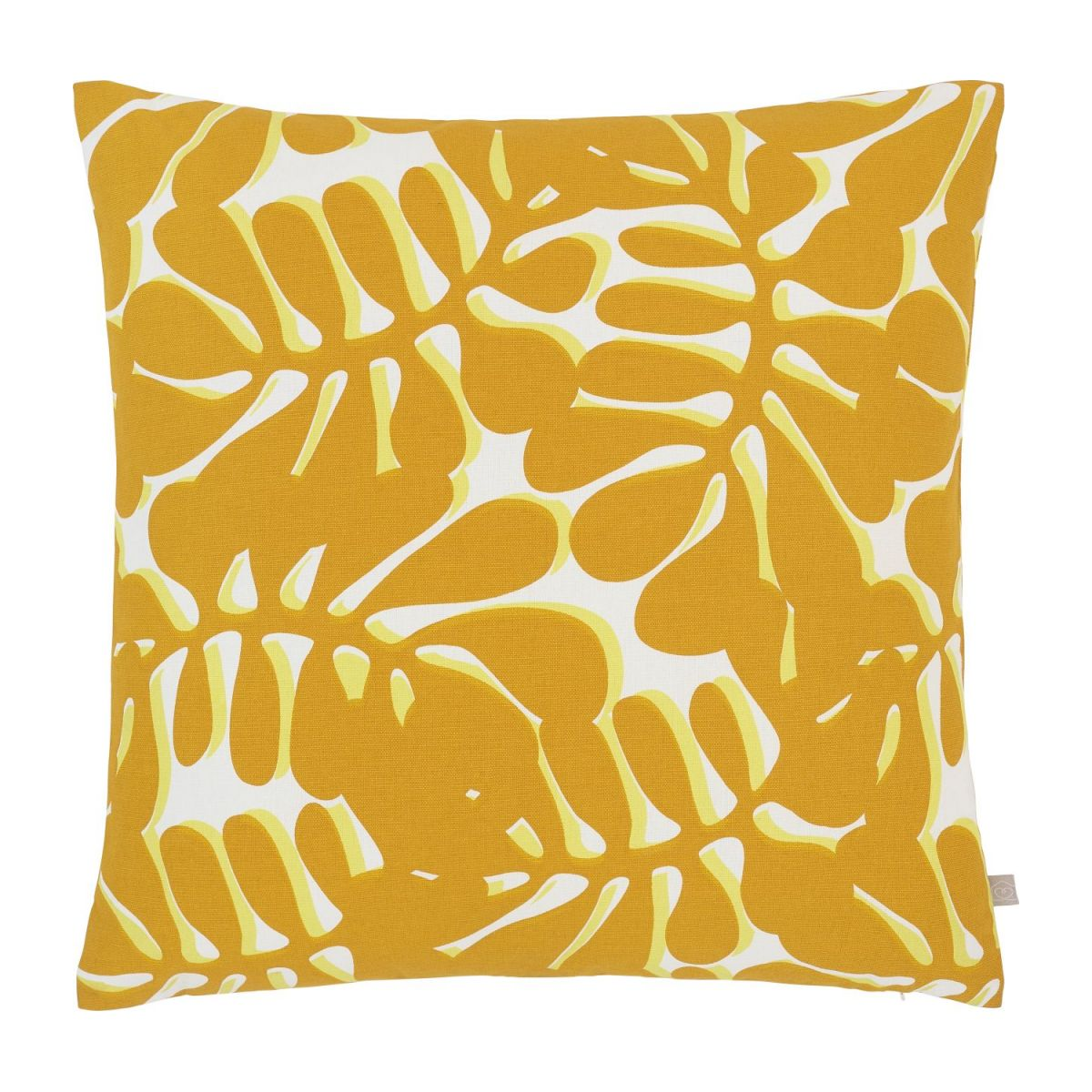 Cushion 45x45 with yellow patterns  n°1
