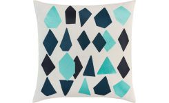 Cushion 50x50 with blue patterns