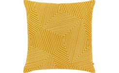 Cushion 50x50, yellow with patterns