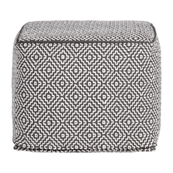 Footstool with black and white patterns n°3