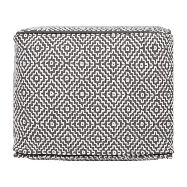 Footstool with black and white patterns n°4