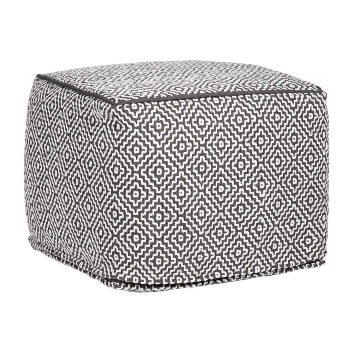 Footstool with black and white patterns n°1