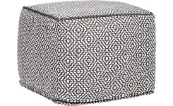 Footstool with black and white patterns