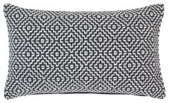 Cushion 30x50cm, black and white