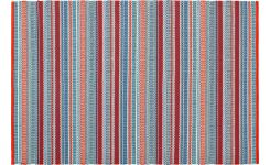 Flat woven rug 120x180 red and blue