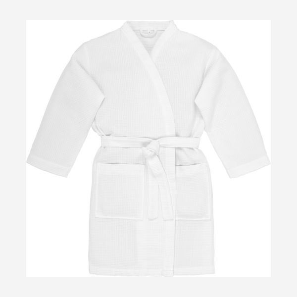 Robe made of cotton M/L size, white