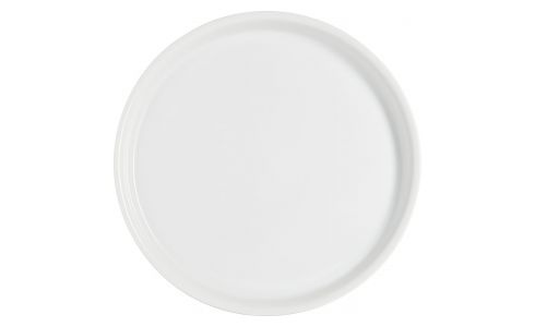 Serving plate in porcelain, white 32cm