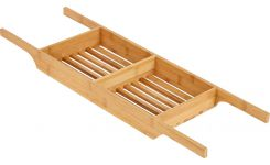 Bath tray made of bamboo