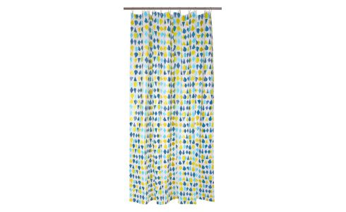 Shower curtain 200x180cm, blue