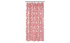 Shower curtain 200x180cm, red