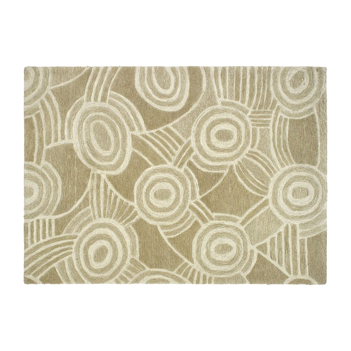 Tufted carpet 170x240, beige with patterns n°1