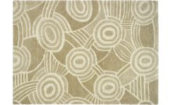 Tufted carpet 170x240, beige with patterns