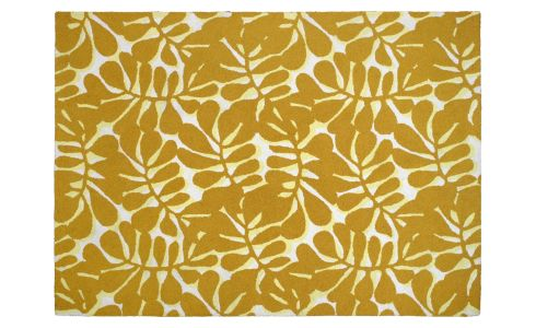 Tufted carpet 170x240, yellow