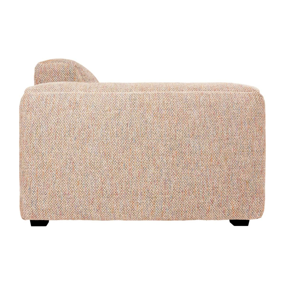 4-seater sofa in Bellagio fabric, passion orange n°6