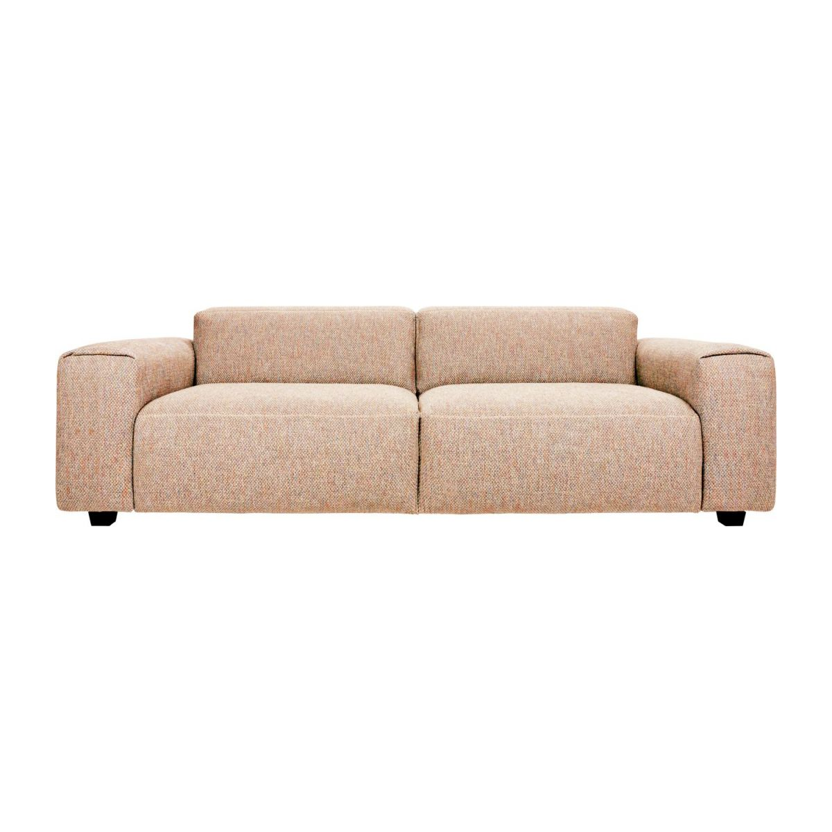 4-seater sofa in Bellagio fabric, passion orange n°3