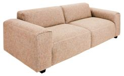 Fabric 3-seater sofa,, beige-rust