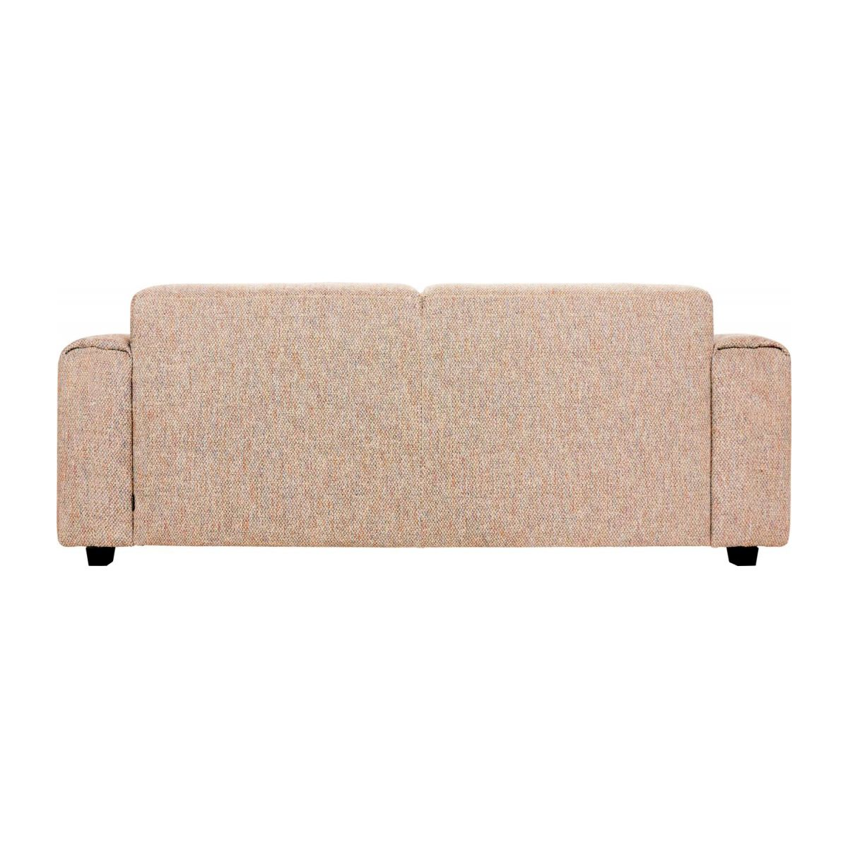 2-seater sofa in Bellagio fabric, passion orange n°5
