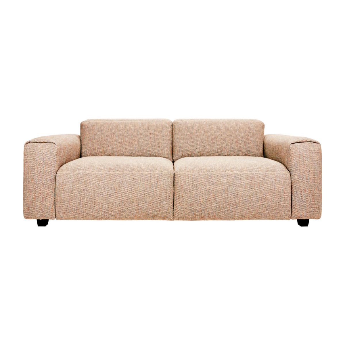 2-seater sofa in Bellagio fabric, passion orange n°3