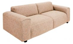 2-seater sofa in Bellagio fabric, passion orange