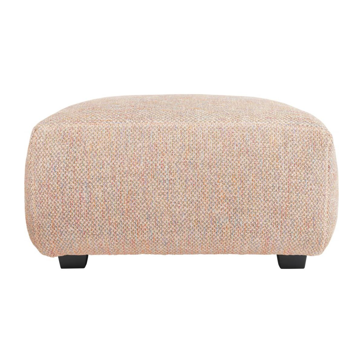 Footstool in Bellagio fabric, passion orange n°4