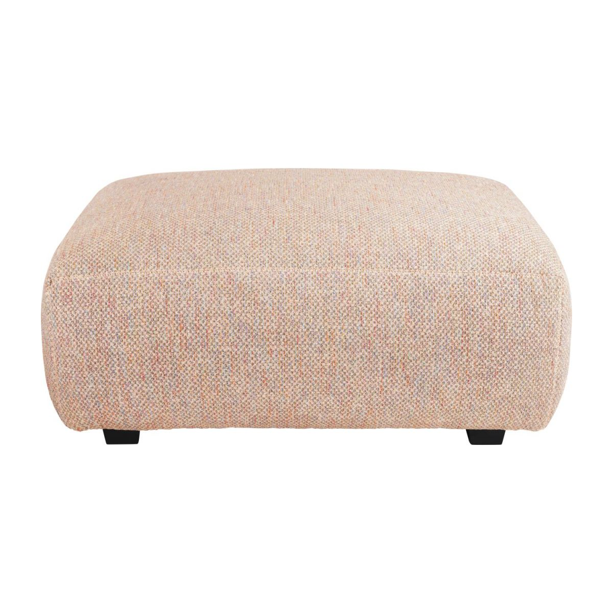 Footstool in Bellagio fabric, passion orange n°2