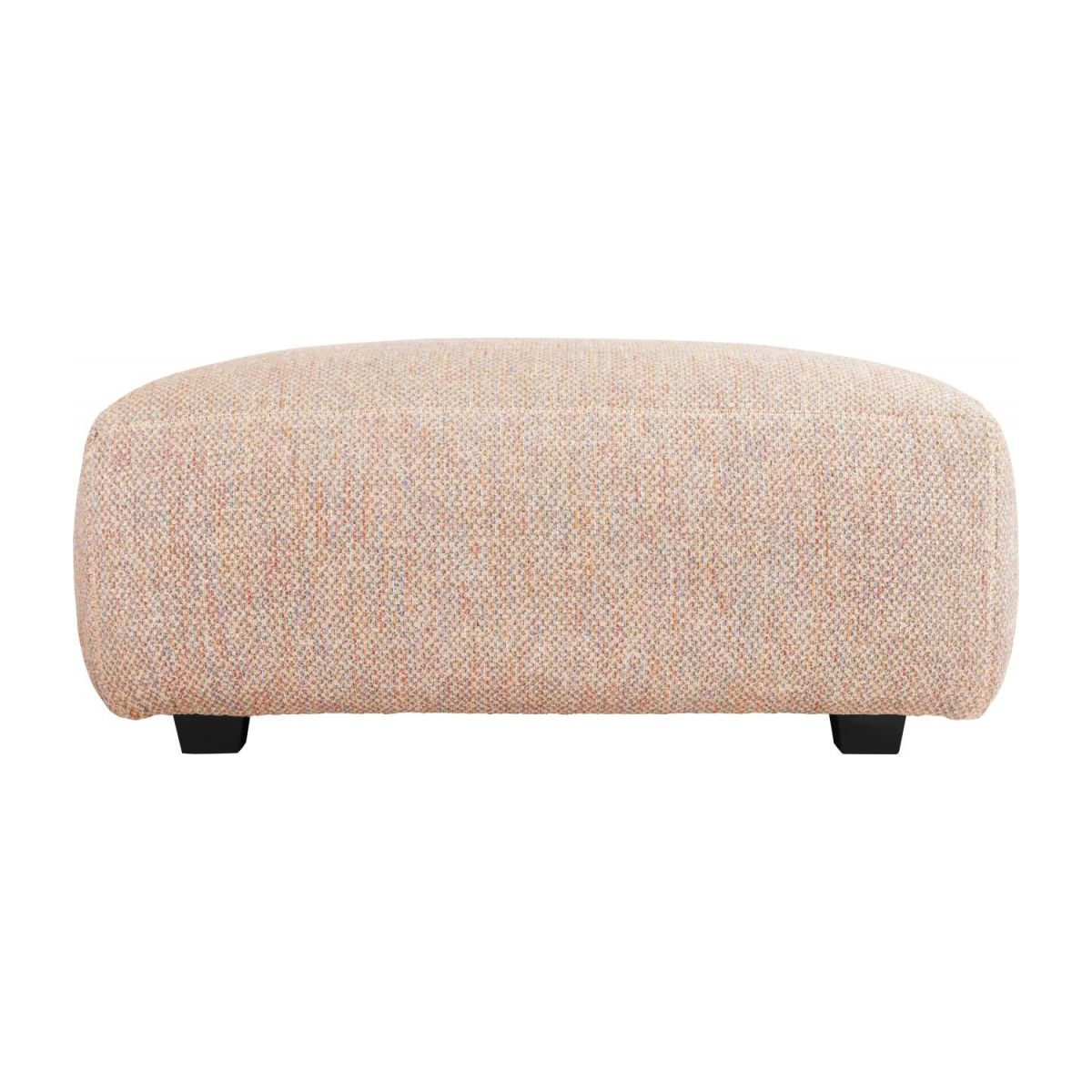 Footstool in Bellagio fabric, passion orange n°3