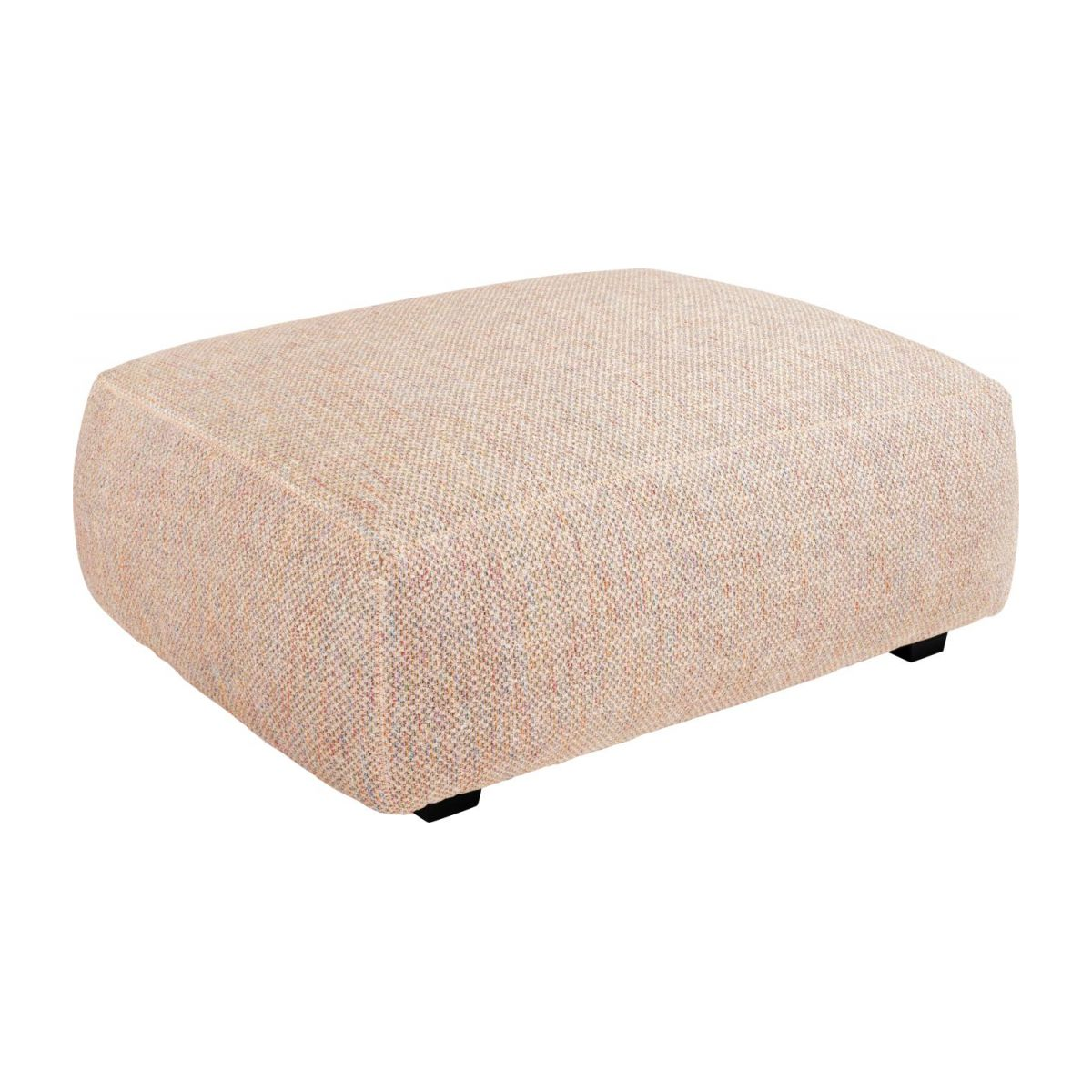 Footstool in Bellagio fabric, passion orange n°1