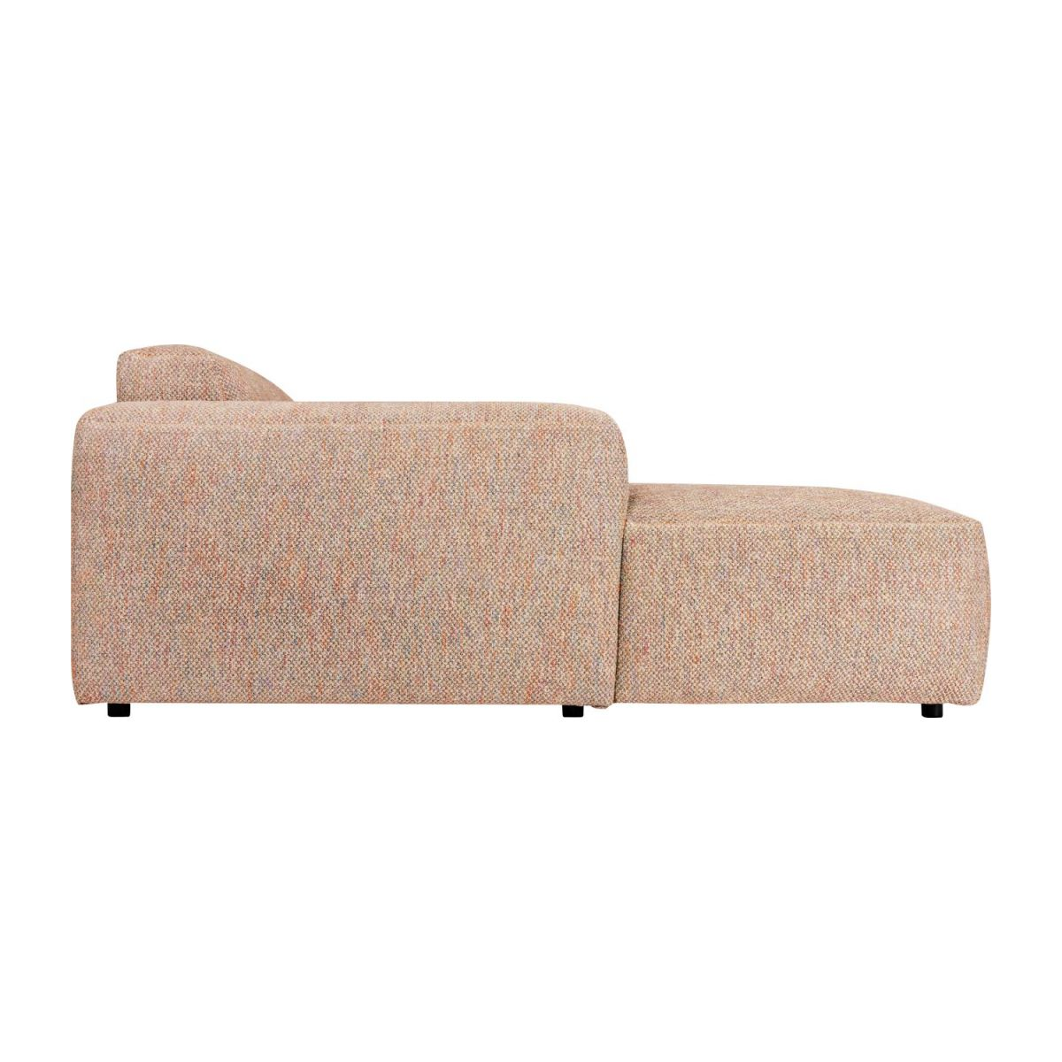 3 seater sofa with left chaise longue in Bellagio fabric, passion orange n°6