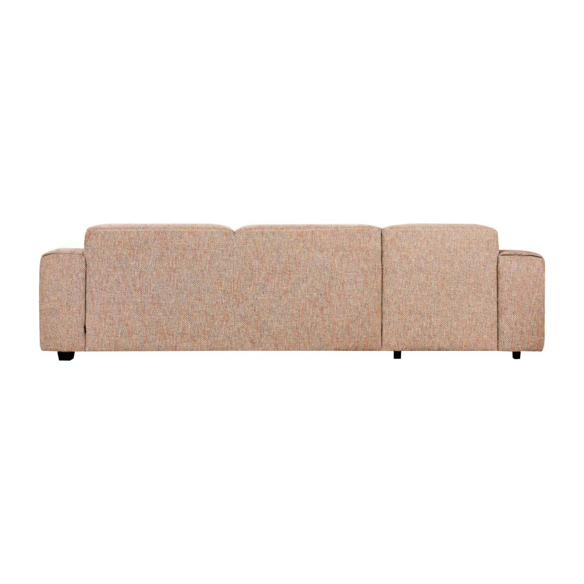 3 seater sofa with left chaise longue in Bellagio fabric, passion orange n°5