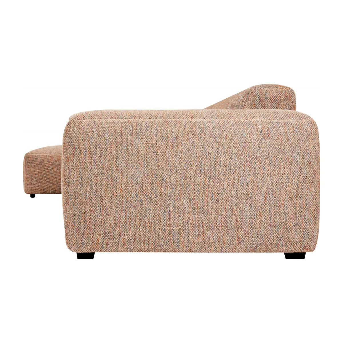 3 seater sofa with left chaise longue in Bellagio fabric, passion orange n°4