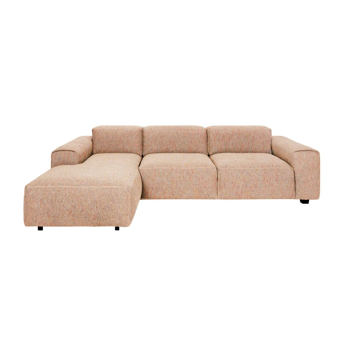 3 seater sofa with left chaise longue in Bellagio fabric, passion orange n°2