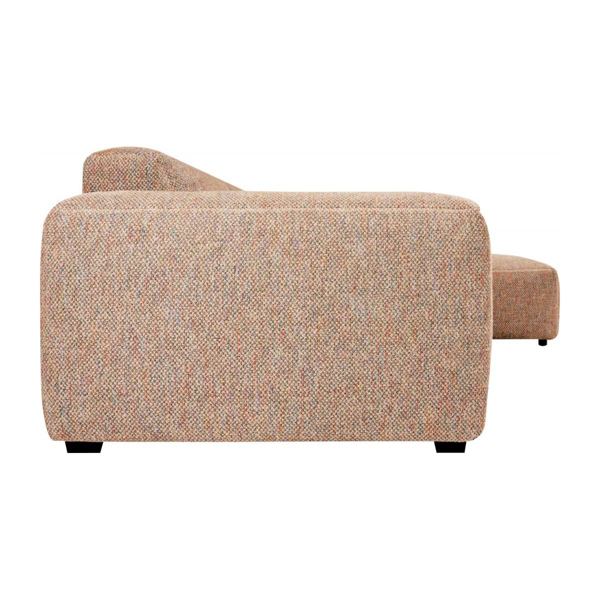 3 seater sofa with right chaise longue in Bellagio fabric, passion orange n°2