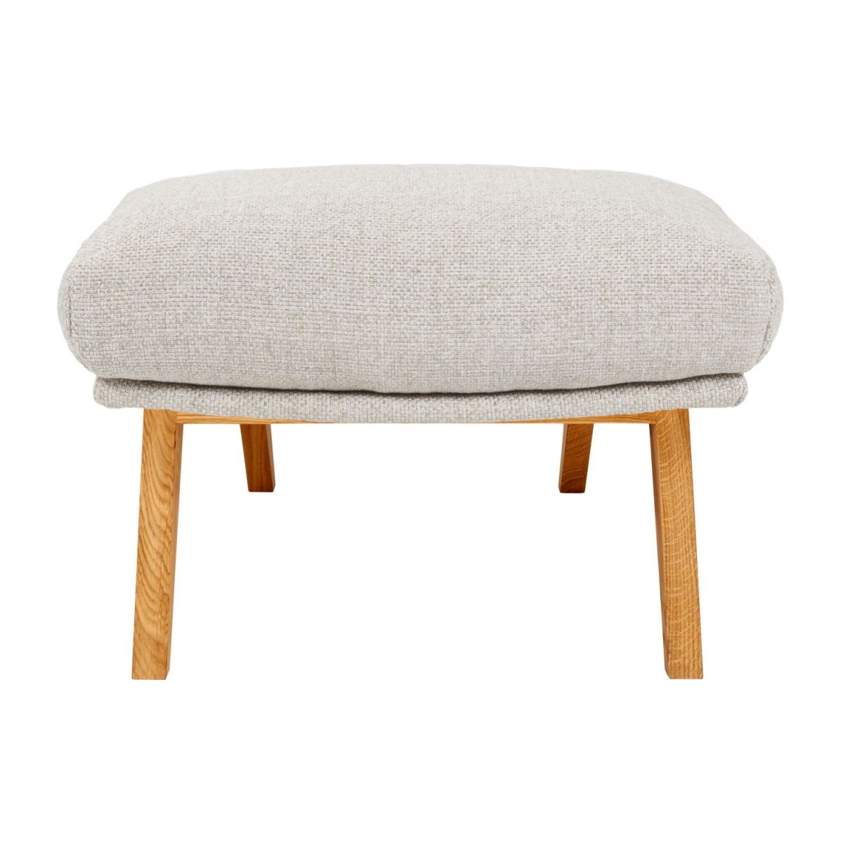 Footstool in Lecce fabric, nature with oak legs n°3