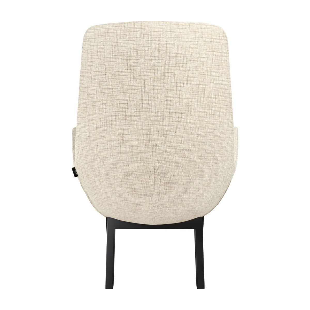 Armchair in Ancio fabric, nature with dark oak legs n°5