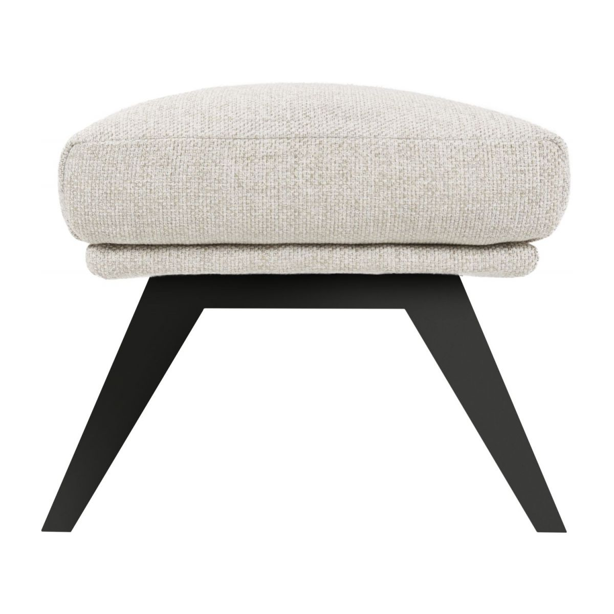 Footstool in Lecce fabric, nature with dark legs n°3
